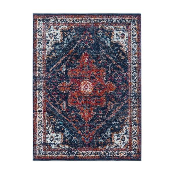 Modro-červený koberec Nouristan Azrow, 80 x 150 cm
