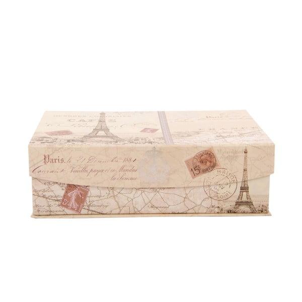 Sada 3 úložných krabic Greetings from Paris