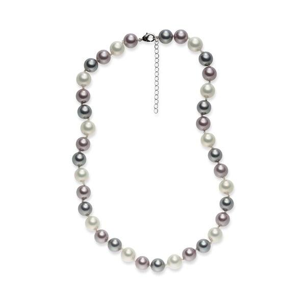 Perlový náhrdelník Mystic Violet Rose, 45 cm