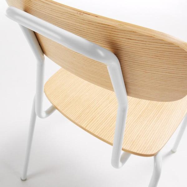 Sada 4 židlí s bílou konstrukcí La Forma Klee
