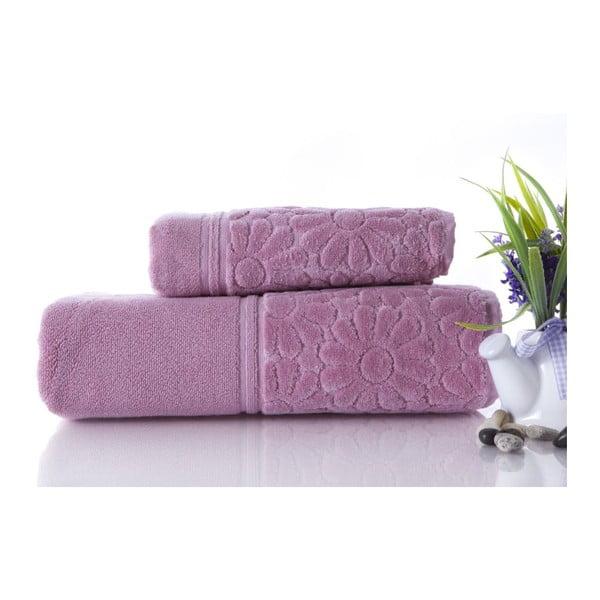 Sada 2 ručníků Samba Powder, 70x140 cm a 50x90 cm
