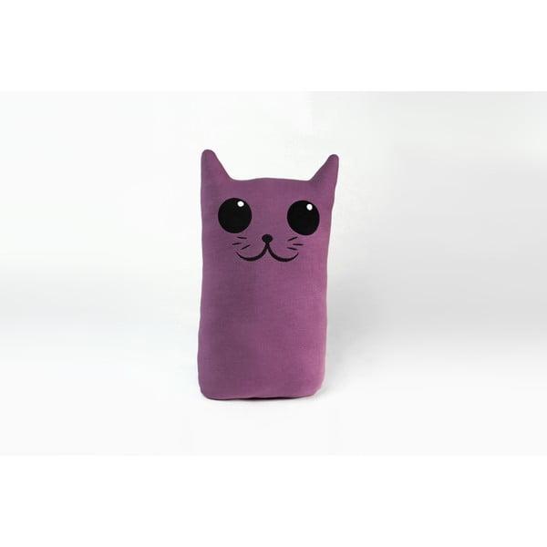 Polštářek Kočka, fialový