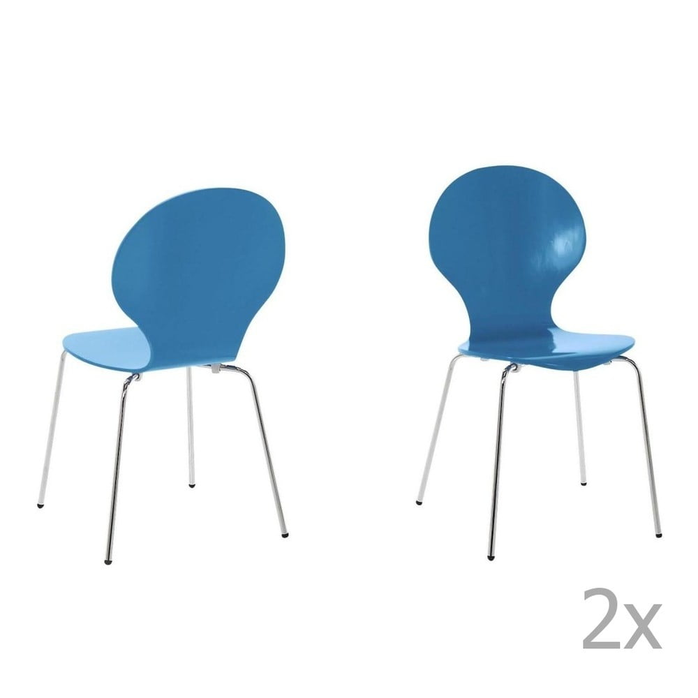 Sada 4 modrých jídelních židlí Actona Marcus
