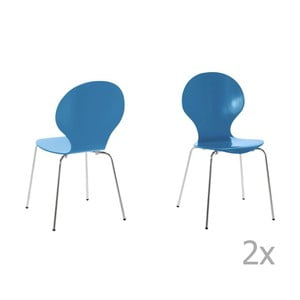 Set 4 scaune Actona Marcus, albastru