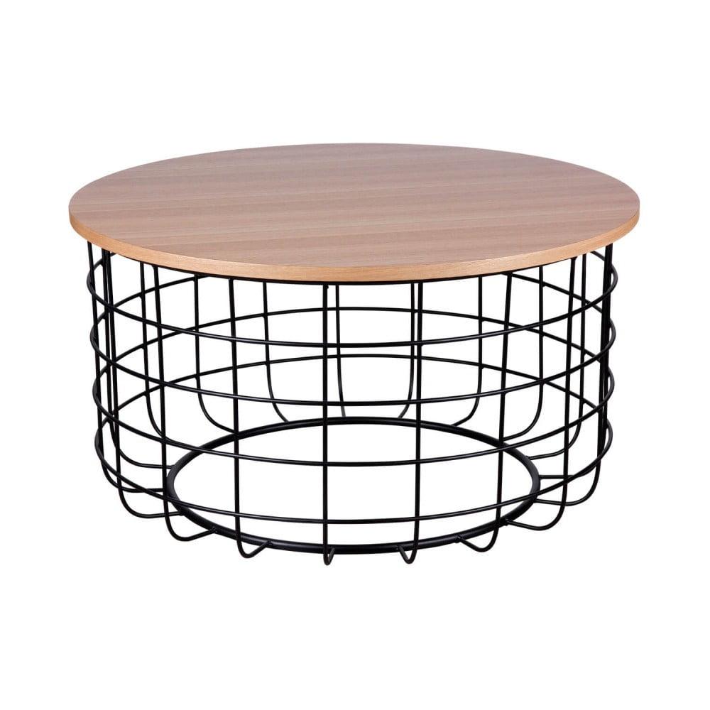 Hnědo-černý konferenční stolek sømcasa Celso