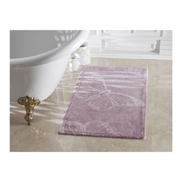 Butterfly lila fürdőszobai szőnyeg, 70 x 120 cm - Madame Coco