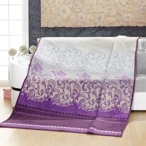Přehoz Alpino, fialový dekor
