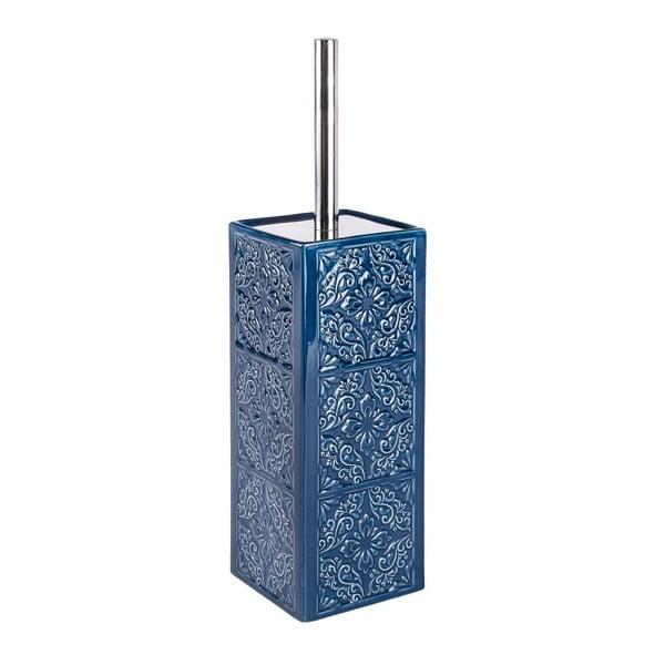 Tmavě modrý toaletní kartáč Wenko Cordoba
