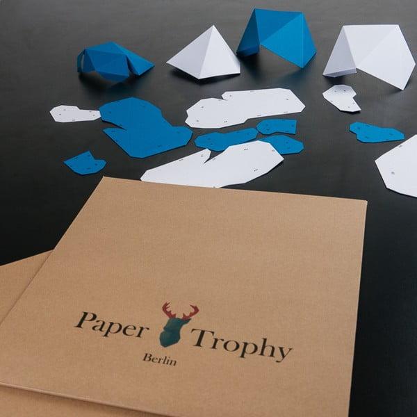 Papírová trofej Slon, černo-bílý