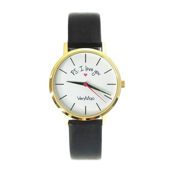 Černé hodinky VeryMojo PS I Love You
