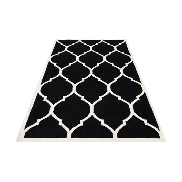Vlněný koberec Lara, 120x180 cm, černý