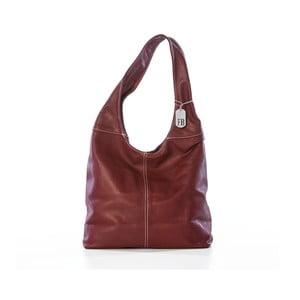 Vínová kabelka z pravé kůže Federica Bassi Kriss