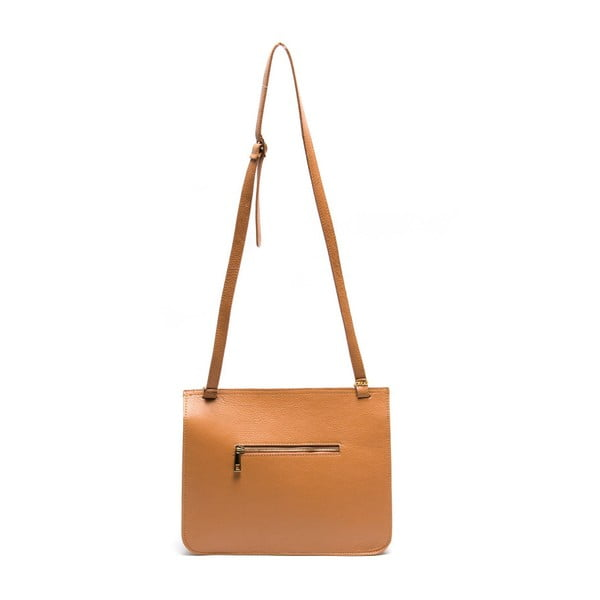 Kožená kabelka Isabella Rhea 1154 Cognac