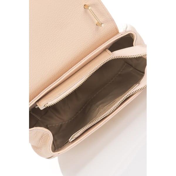 Růžová kožená kabelka Giorgio Costa Locker