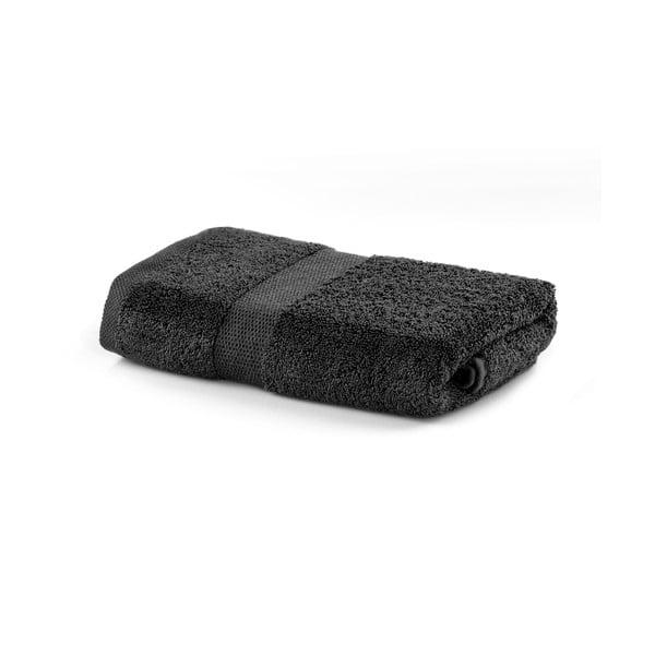 Tmavě šedý ručník DecoKing Marina, 50 x 100 cm