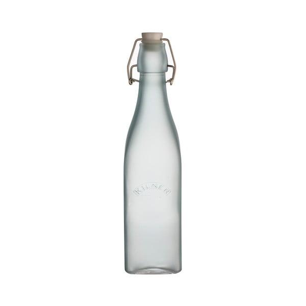 Mléčně modrá láhev s klipem Kilner, 0,55 l
