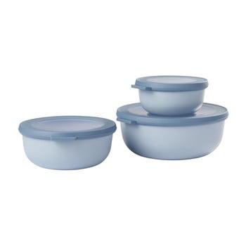 Set 3 cutii pentru gustări Rosti Mepal Cirqula, albastru imagine
