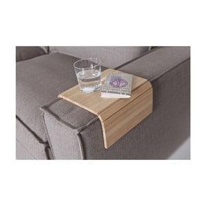 Cotieră flexibilă din lemn pentru canapea WOOOD Tray, natural