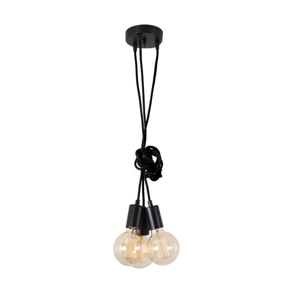 Černé trojité závěsné světlo Filament StyleSpider