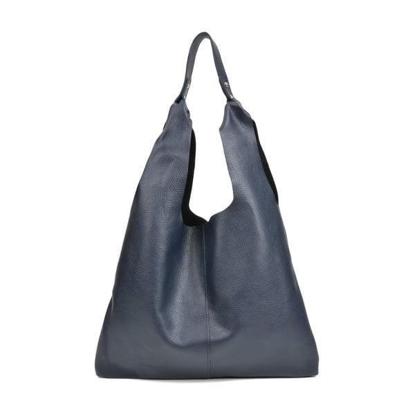 Tmavě modrá kožená kabelka Sofia Cardoni Hobo