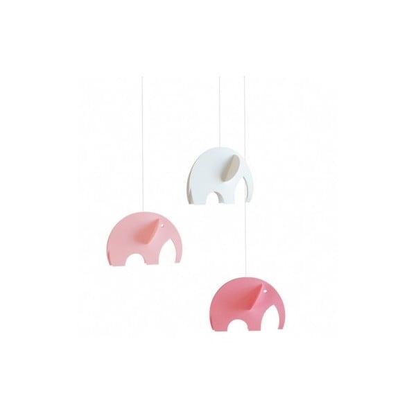 Závěsná mobilní dekorace Olephants Pink