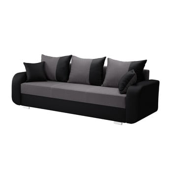 Canapea cu 3 locuri INTERIEUR DE FAMILLE PARIS Destin negru - gri