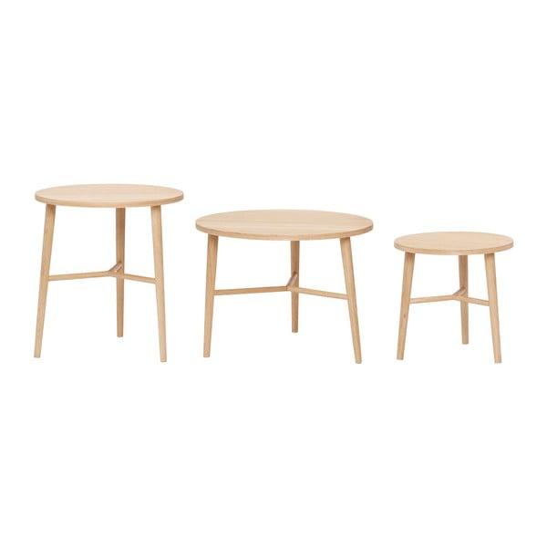Komplet 3 podręcznych stolików Hübsch Naturella