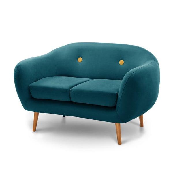 Canapea pentru 2 persoane Scandi by Stella Cadente Maison, albastru - verde