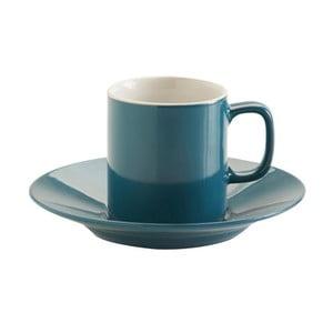 Ceașcă cu farfurie Price & Kensington Teal Espresso, albastru