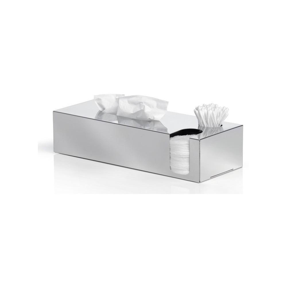 Lesklý nerezový box na hygienické potřeby Blomus Areo