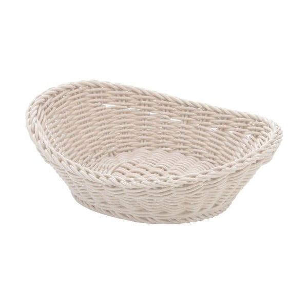 Košík Ovaler White, 23,5x16x6,5 cm