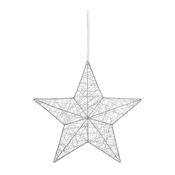 Závěsná světelná LED dekorace ve stříbrné barvě Markslöjd Artur, ø 50cm