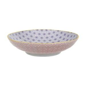 Růžovo-fialový porcelánový talíř na těstoviny Tokyo Design Studio Star/Wave