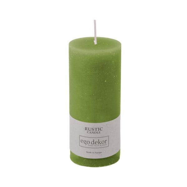 Lumânare Baltic Candles Rustic, înălțime 14 cm, verde
