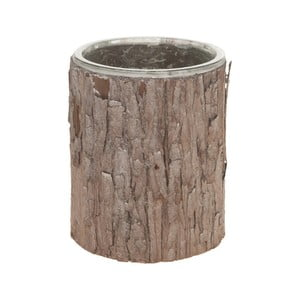 Skleněná dóza s kůrou Dijk Natural Collections, 15 cm