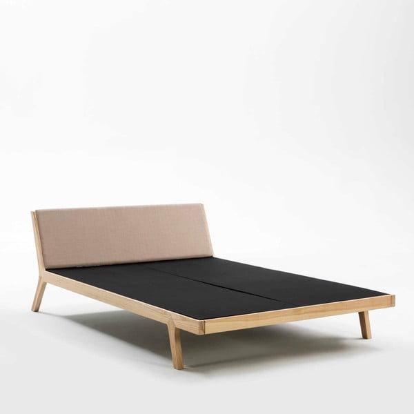 Béžovo-černá postel Thai Natura Comfy, 150 x 190 cm
