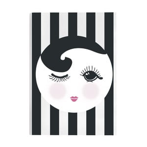 Agendă Open and Closed Eye Black Soft, A5