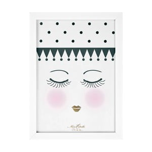 Tablou Miss Étoile Eyes And Dots, 25 x 33 cm