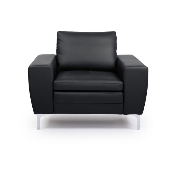 Twigo fekete bőr fotel - Softnord
