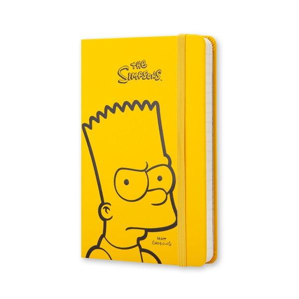 Žlutý zápisník moleskine The Simpsons, malý