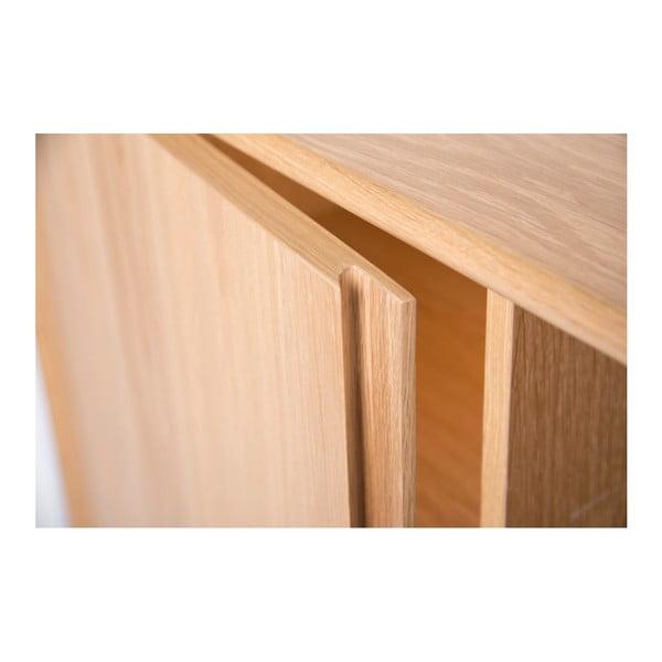 Komoda z dubového dřeva se skleněnými policemi Wermo Havvej