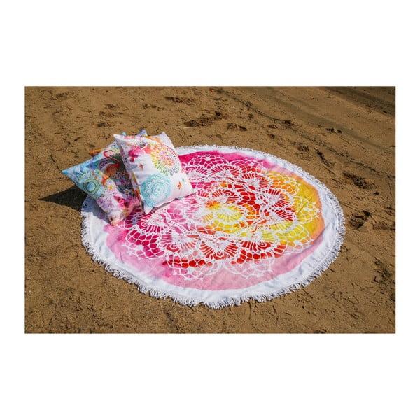 Kruhová plážová bavlněná osuška ATMOSPHERE Germaine,160cm