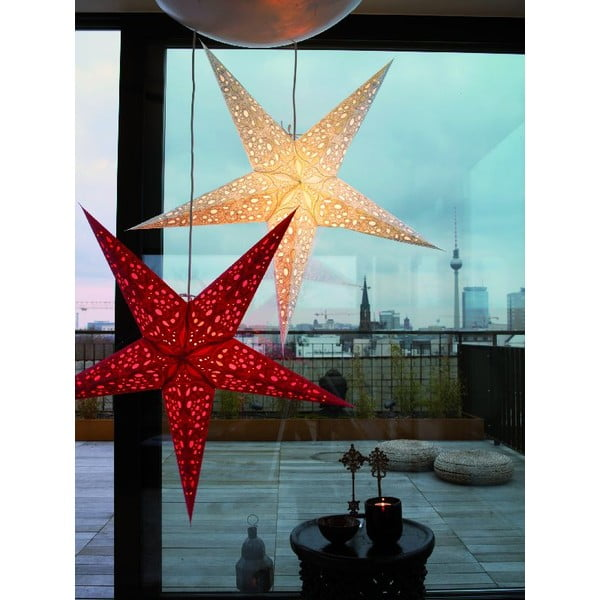 Dekorativní hvězda Mono Red, 60 cm