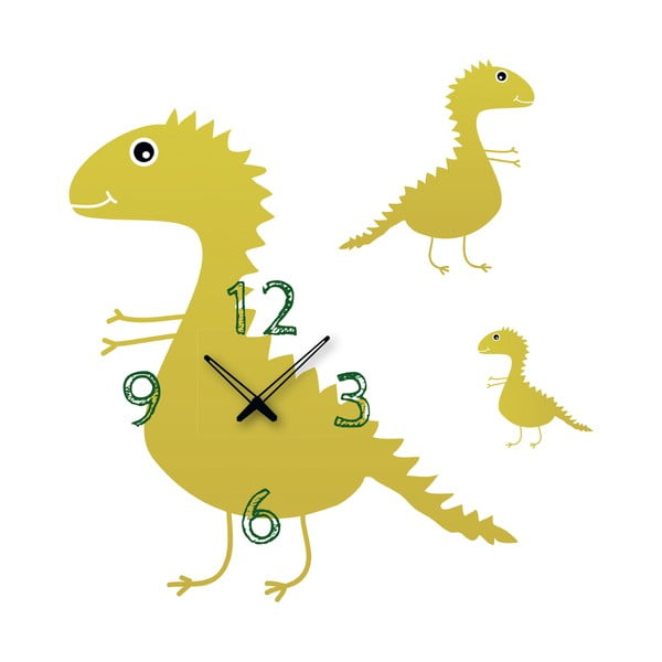 Samolepící hodiny Dinosauři