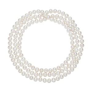 Bílý perlový náhrdelník Chakra Pearls, délka 120 cm