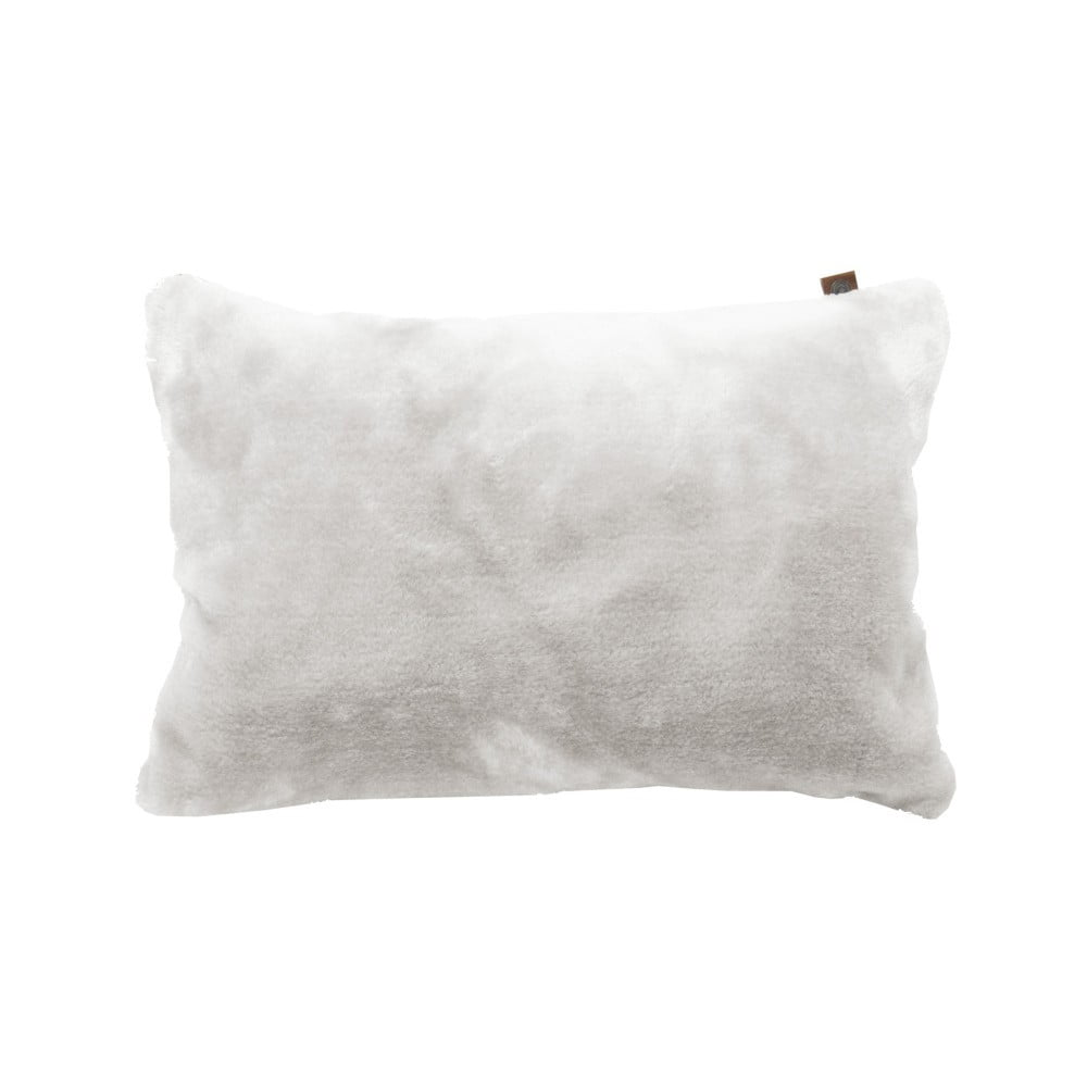 Bílý polštář OVERSEAS Fur, 30 x 50 cm