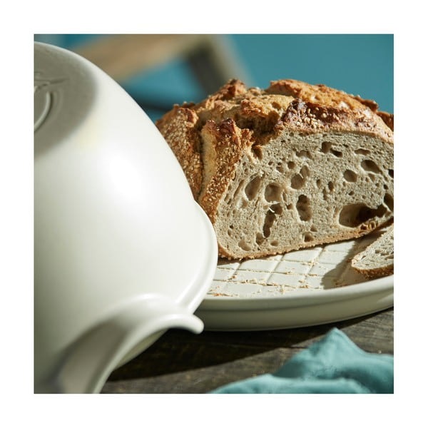 Formă rotundă de copt pâine Emile Henry, ⌀ 29,5 cm, alb fildeș
