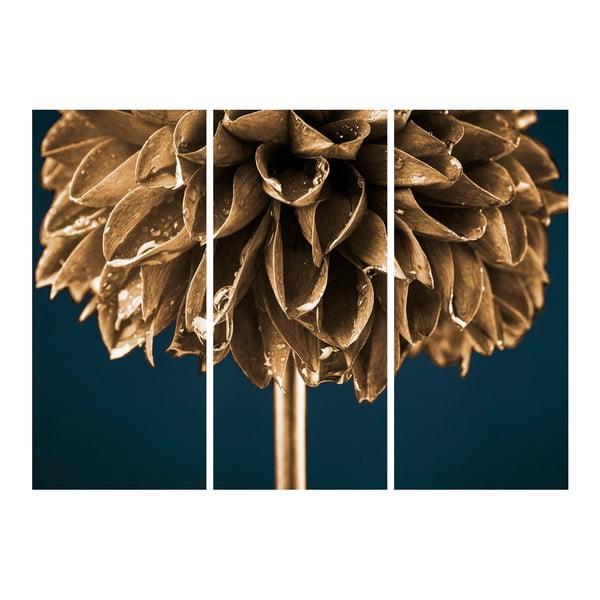 Obraz Styler Glasspik Gold Flower, 30 x 80 cm