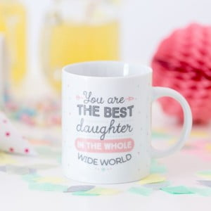 Cană Mr. Wonderful You are the best daughter, 350 ml