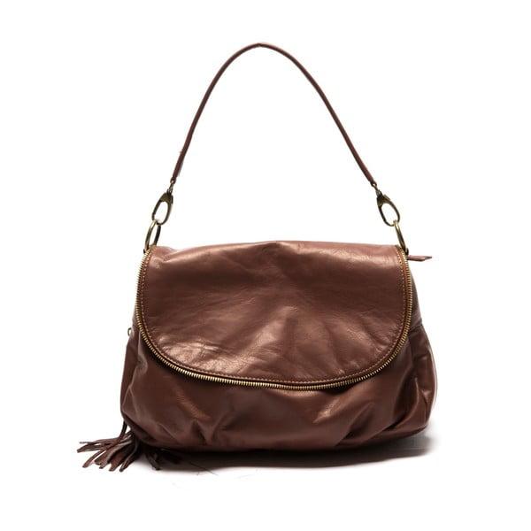 Hnědá kožená kabelka Sofia Cardoni Dona